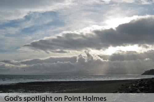 God's spotlight after a storm